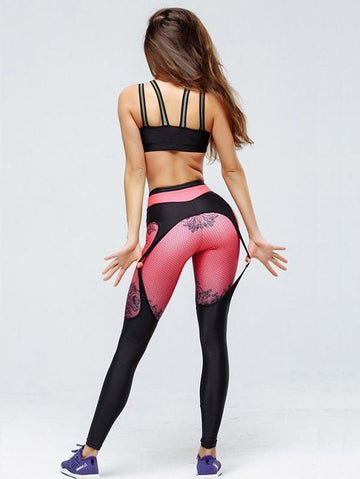 Trendy Patchwork Yoga Leggings