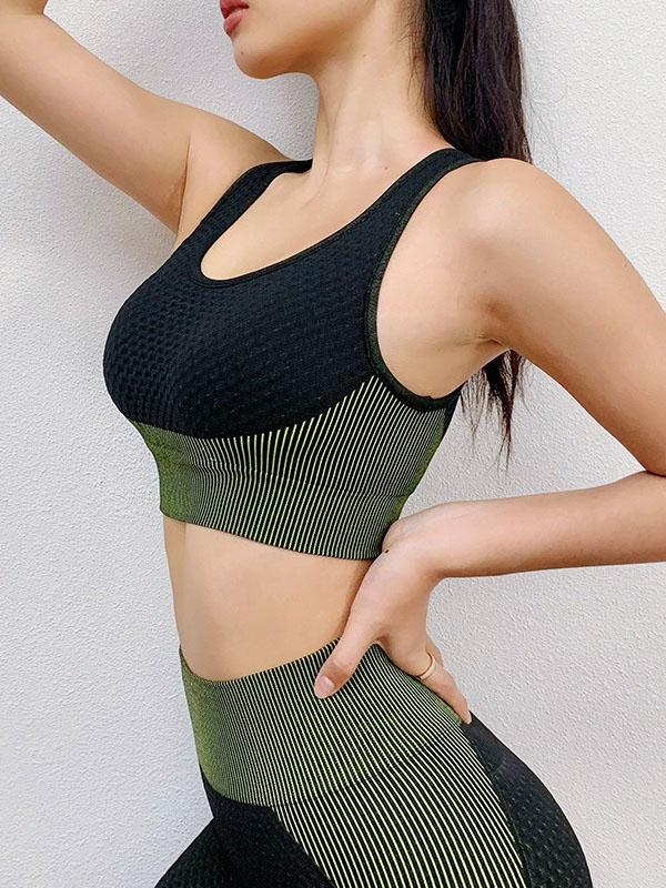 Sexy Solid Breathable Sports Bra