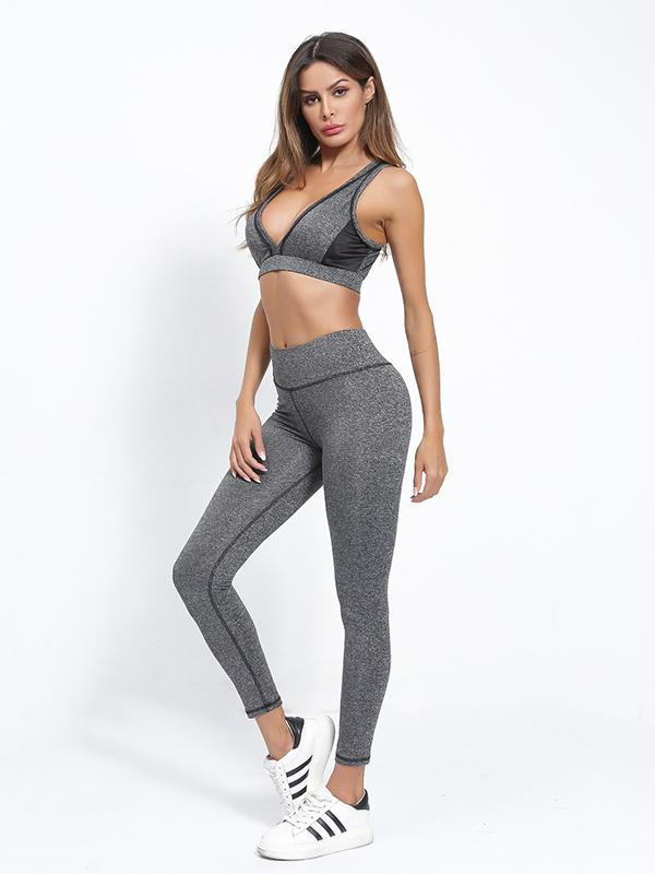 Sexy Yoga Gym Bra And Leggings Suits