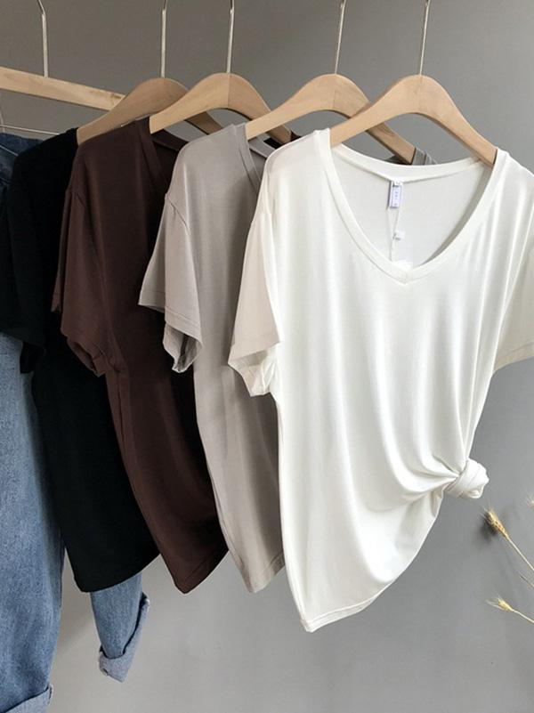 Pure Color Modal T-shirt