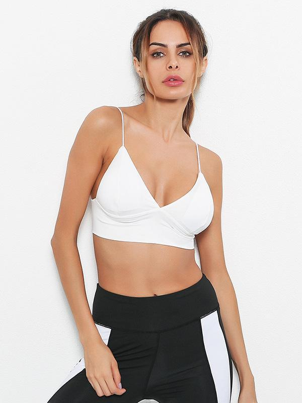 Sexy Solid Deep V-neck Tanks