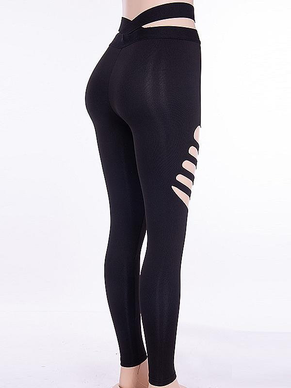 Sexy Hollow Thighs Yoga Leggings