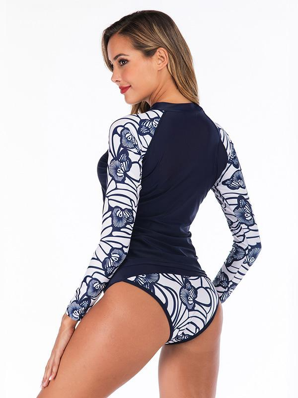 Printing Two-Piece Raglan Sleeves Wetsuit
