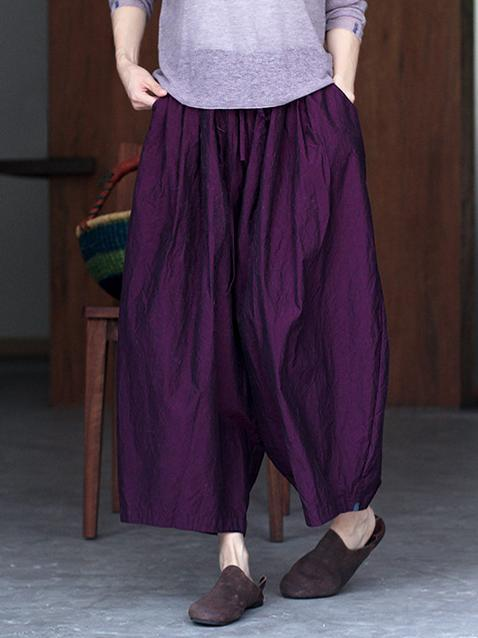 Elastic Strap Loose Wide-leg Pants