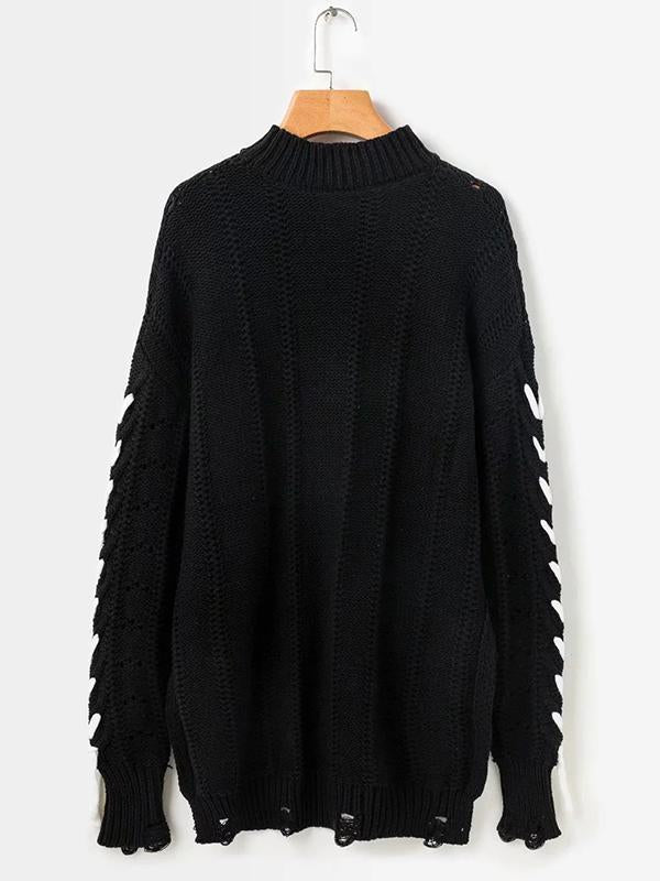 Tassels Hollow Knitting Sweater Tops