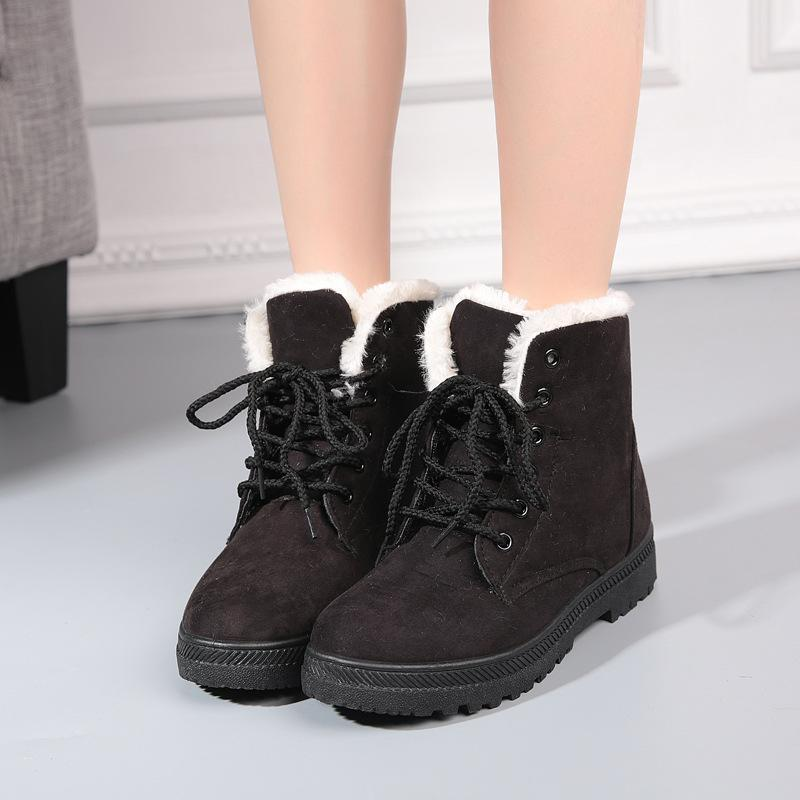 Cotton Warm Snow Flat Boots Uggs