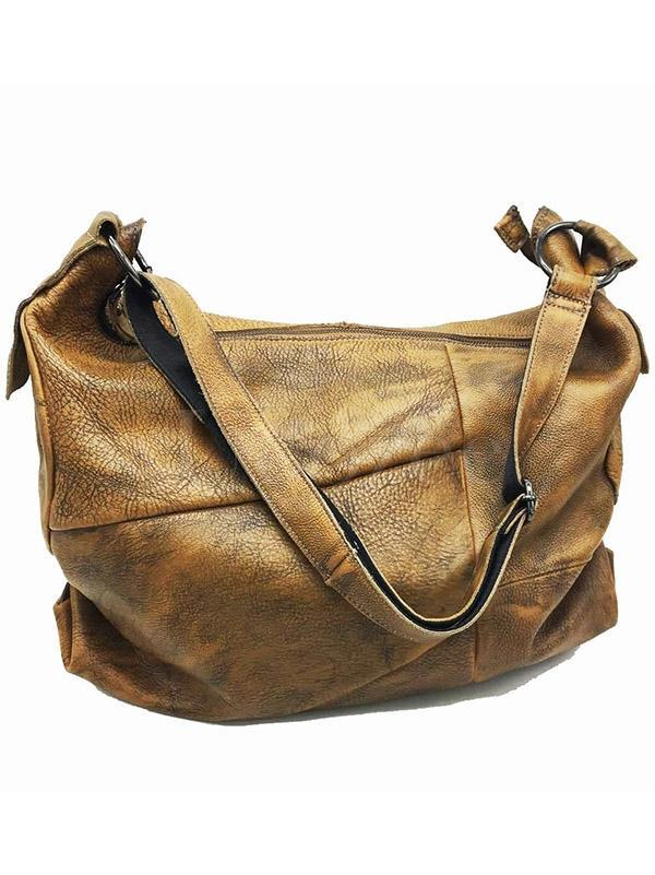 Vintage Manual Staining Genuine Leather Sling Bag