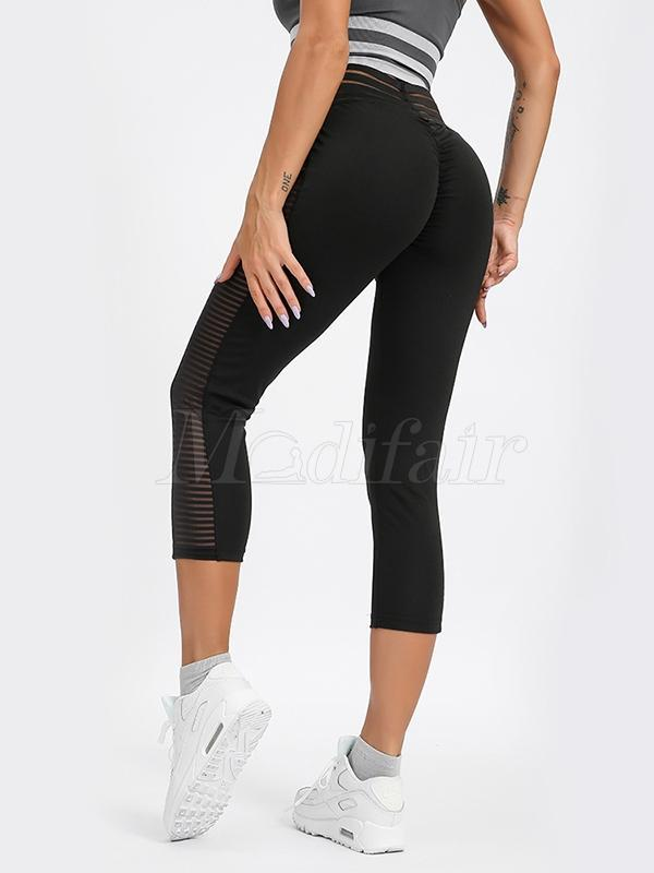 Side Fish Shredding Mesh Leggings