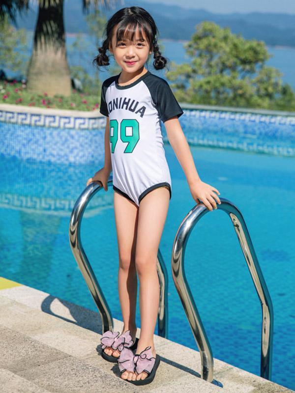 AONIHUA Sweet Girl One Piece Swimwear