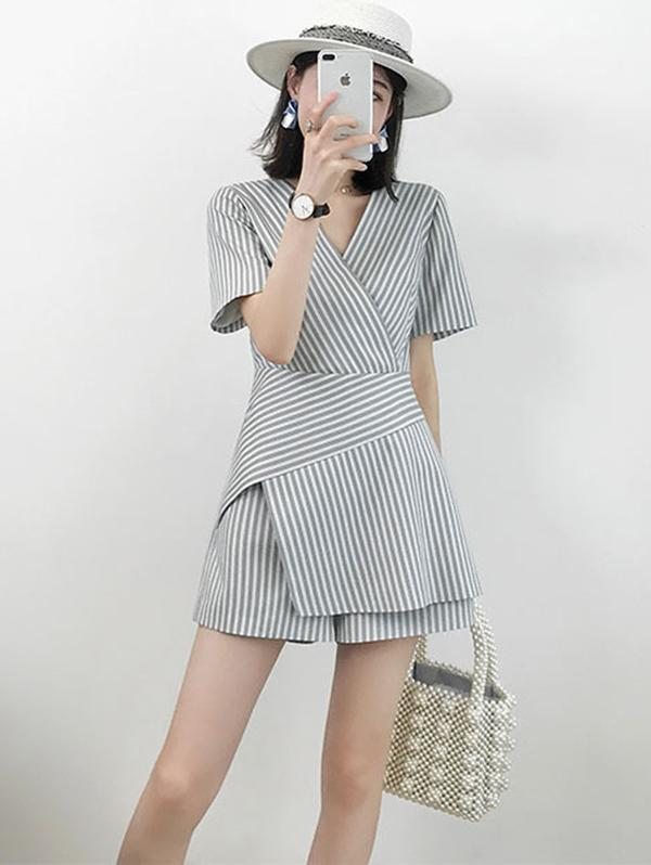 Summer Striped Rompers