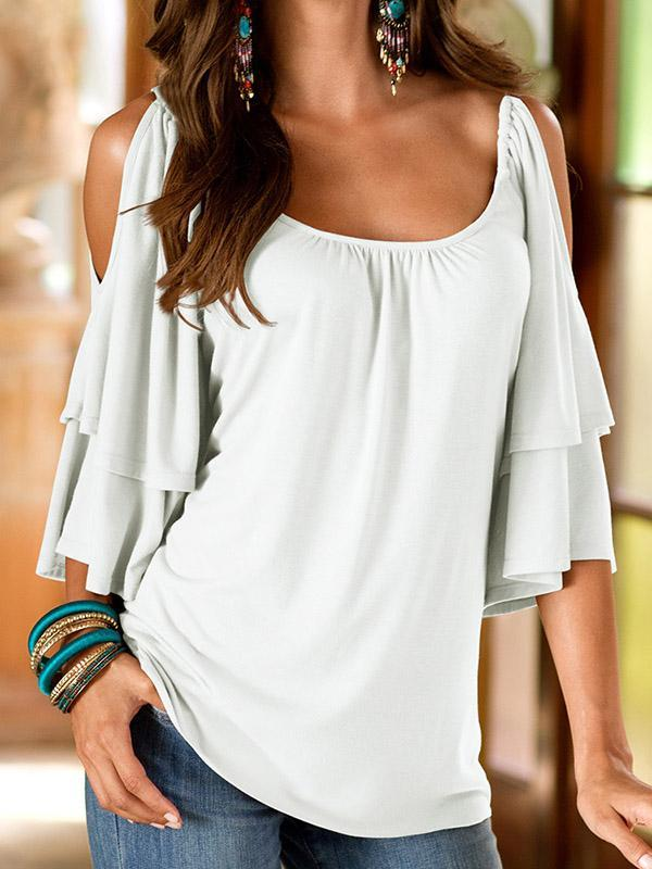 8 Color Half Sleeve Chic Tops