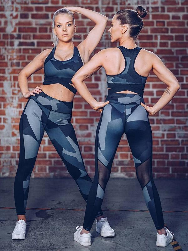 Racerback Mesh Insert Bra And Leggings Suits0.