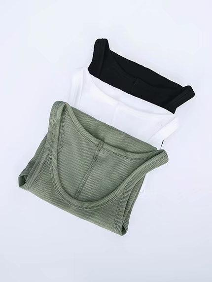 Sleeveless Solid Casual Tanks