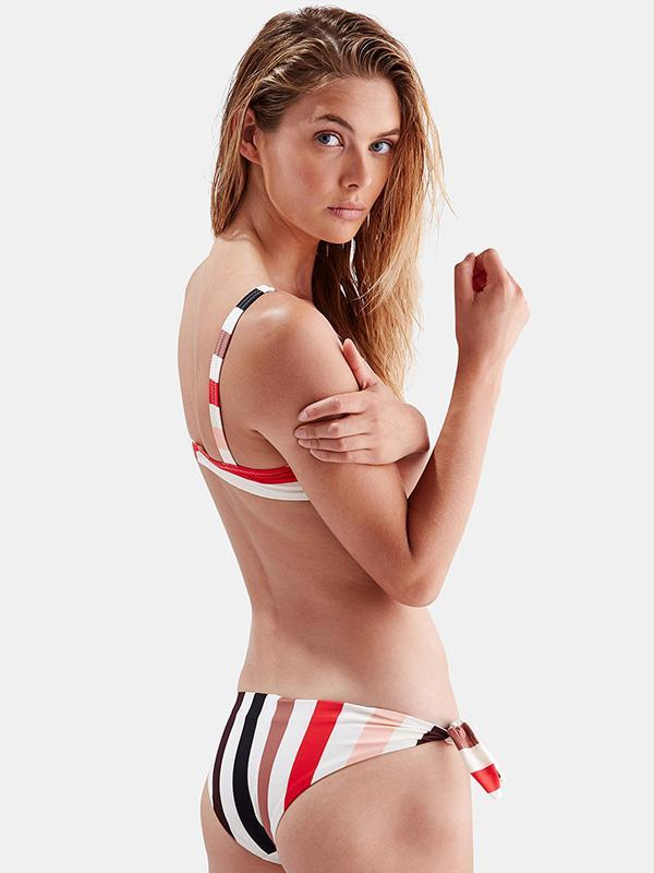 Stripes Printed Bikinis Swimwear