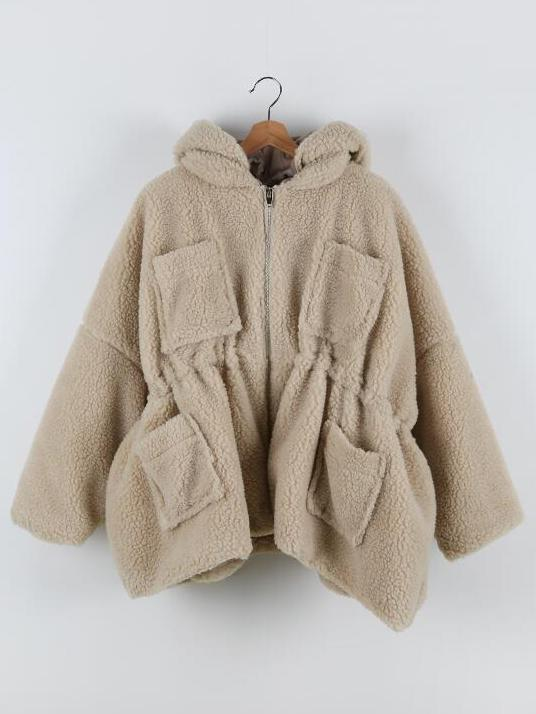 WARM LACE-UP BUTTON OUTWEAR