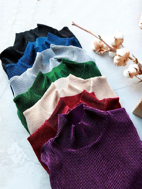 7 Colors Comfortable Velvet Slim Tops