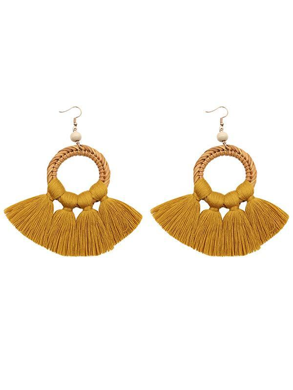 Tasseled Knitting Bohemia Earrings
