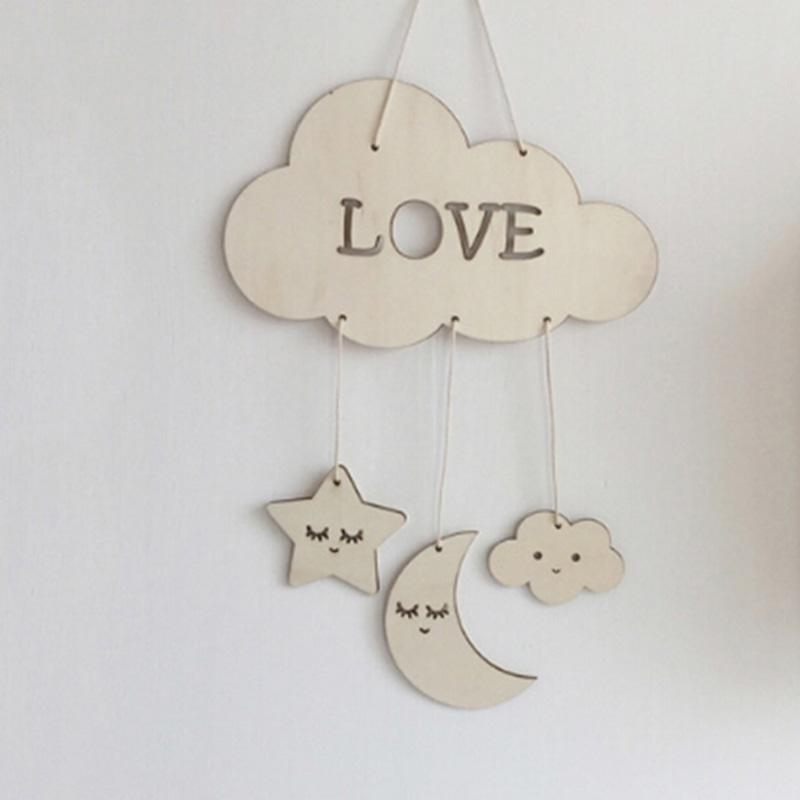 Eyelash Moon Star Hanging Ornament Home Decoration