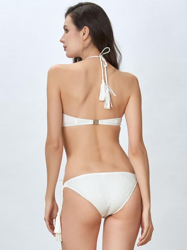 Sexy Plain Lace-up One-piece Swimsuit