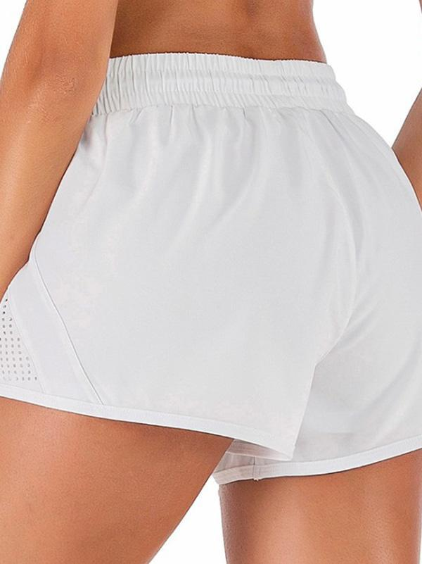Drawstring Perforated Sport Shorts