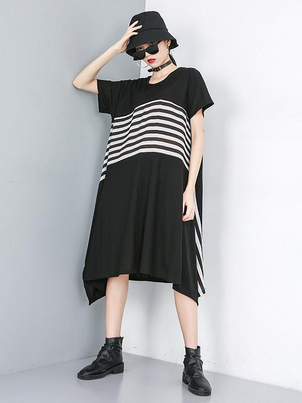 A-line Striped Dress