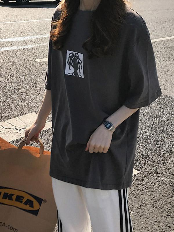 2019 New Loose Cool Chic Printed T-Shirt