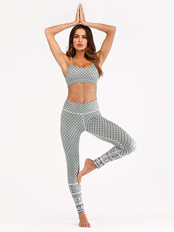 Printed Moisture Absorption Sweat Releasing Yoga&Gym Suits