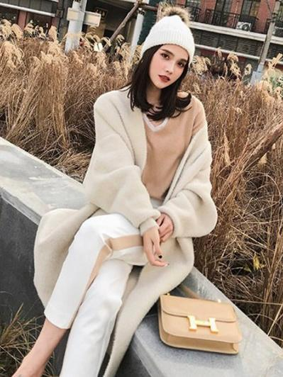 SUPER LOOSE SOFT SWEATER LONG OUTWEAR