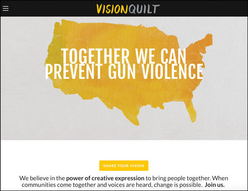 Cathy DeForest's Vision Quilt Project Aims to Prevent Gun Violence