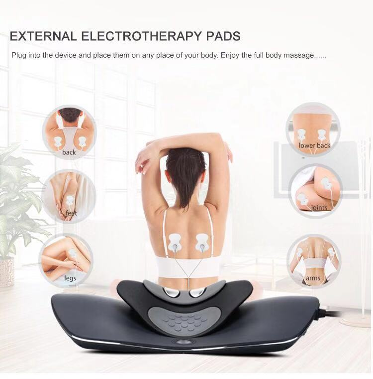 Relieve neck and back pain, Best neck traction device Neck traction heat electronic pulse technology Headaches fatigue improve posture Relieve neck and upper back tension  Relax and soothe the neck and upper back muscles prevent and correct poor neck