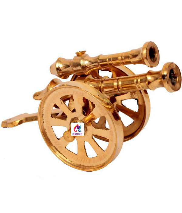 Gold Brass Antique Canon - Pack of 1
