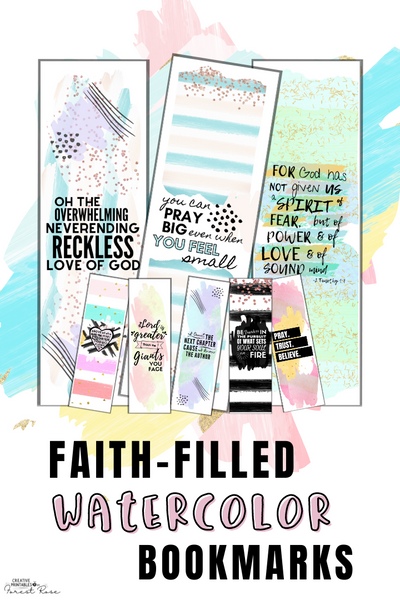 Faith-Filled Watercolor Bookmarks