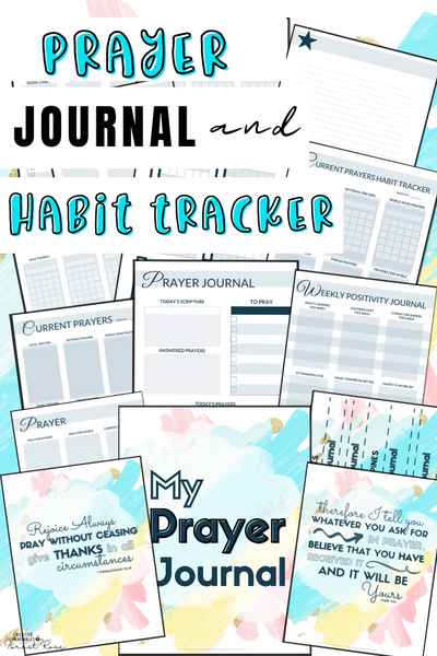Prayer Journal & Habit Tracker (46 Pages)
