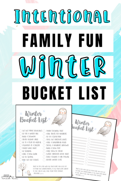 Intentional Family Fun Winter Bucket List