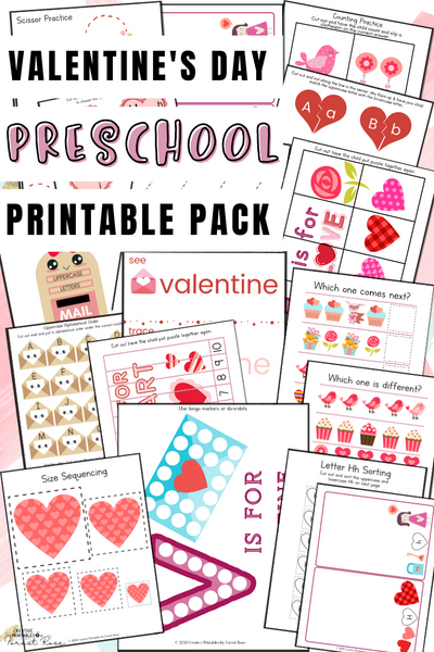 Valentine's Day Preschool Pack (116 pages)