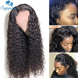 Sapphire Hair Lace Front Human Hair Wigs Brazilian Kinky Curly Human Hair Wig For Black Women 150% Density 13*4 Lace Front Wigs