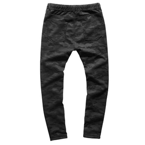 Thickened Plush inner elastic waist men's slim micro elastic pants winter men's casual pants k454-2
