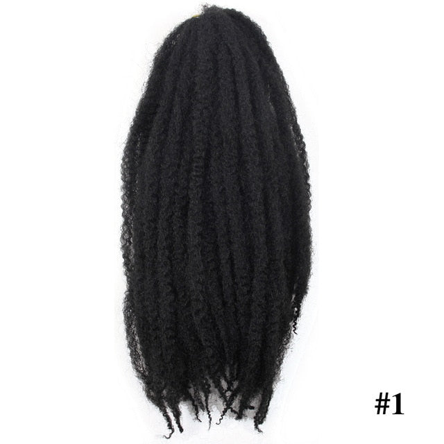 YxCherishair Marley Hair Bulk Synthetic Locs Crochet Hair Braid Ombre Braiding Hair Extensions Kanekalon Hair