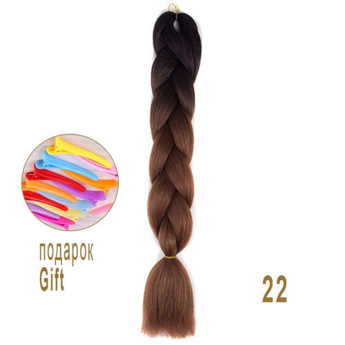 Ombre Braiding Hair Kanekalon Synthetic Hair Extensions Synthetic Fiber For Jumbo Braid Hair Bundles Smart Braid Hair In Bulk