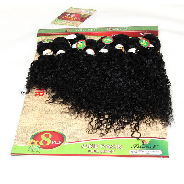 8-14 inch Wholesale Malaysian Hair Jerry Curly 8pcs wave hair extensions Kinky Curly Hair free shipping