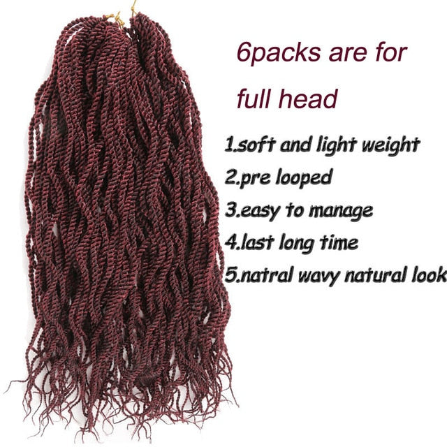 Senegalese Twist Hair crochet 22inch 24strands freetress wavy curly Crochet braids