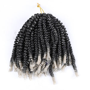 Spring Twist Hair Extension Ombre Color Synthetic Hair for Black Woman Freetress Crochet Braids Hair