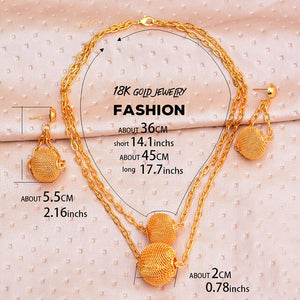 Dubai gold jewelry sets for women big Necklace african beads jewelry set Women Italian Bridal Jewelry Sets Wedding Accessories