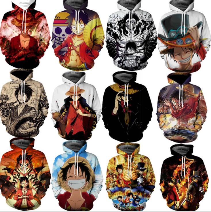 One Piece Man 3D Hoodie Sweatshirt Anime  Monkey D Luffy Hooded Hoodies Pullovers Tops Oversized Streetwear 3xl Drop Shipping