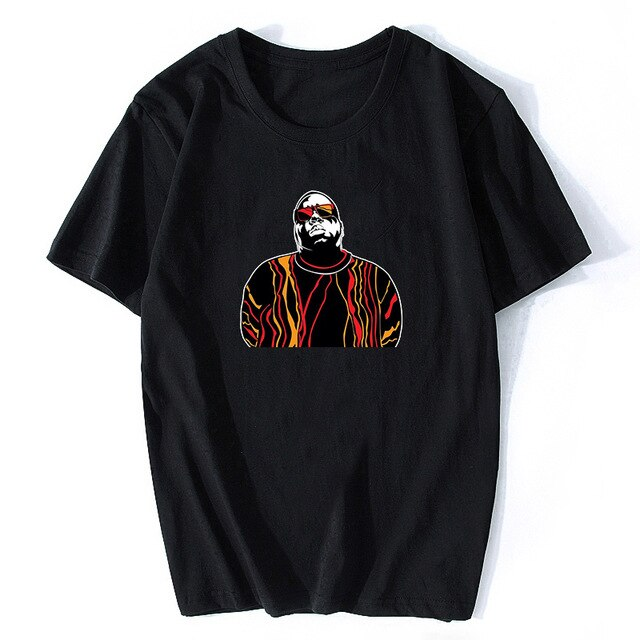 Notorious Big Shirt Mens Short Sleeve Biggie Smalls Tshirt Hiphop Rock Biggie Smalls T Shirt Male Notorious B.I.G. T Shirts