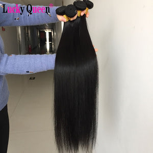 Brazilian Straight Hair Weave Bundles Non-Remy 30 Inch Human Hair Extensions color 1B/2/4/27/99J/Burgundy Ombre Bundles