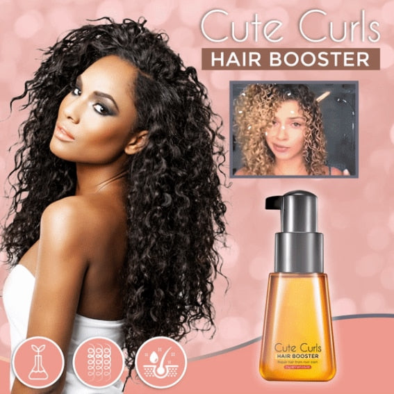 Perfect Cute Curls Hair Booster Curl Defining Styling Enhancing Spray For Curly Wavy Hair