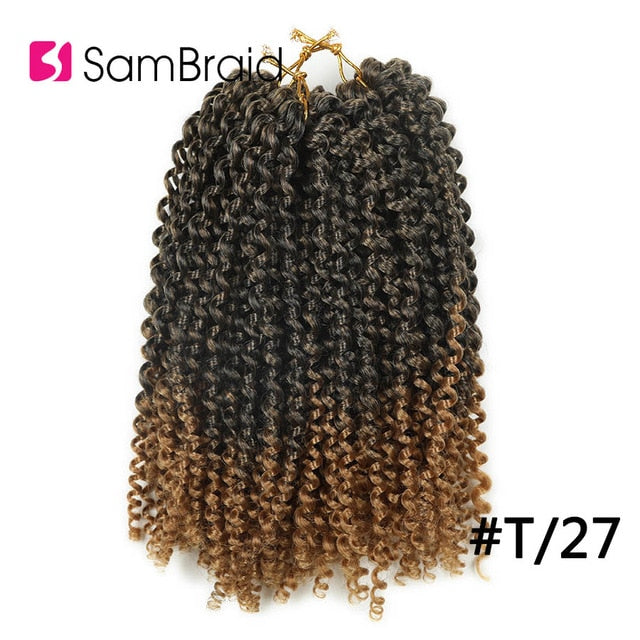 Sambraid 3Packs A Lot Bohemian Curl Crotchet Braids Hair 120G Per Pack Kanekalon Braiding Hair 12 Stands 10Inch synthetic hair
