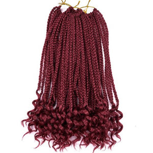 "Silike 12"" 24 strands Loose End Box Braids High Temperature Fiber Synthetic Crotchet Braid Hair Extensions For Black Women"