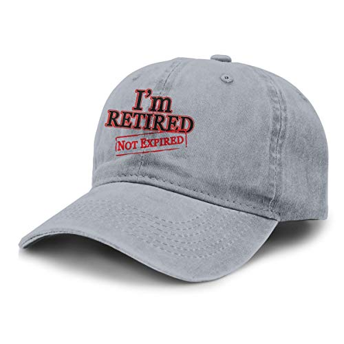 I'm Retired Not Expired Unisex Adjustable Baseball Caps Denim Hats Cowboy Hats